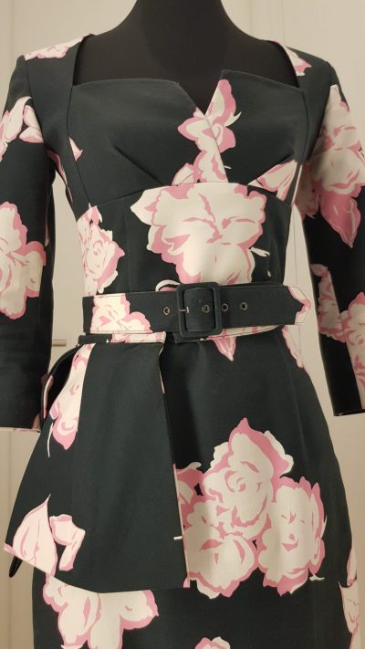 Kleid, Blumen,schwarz, Lena Hoschek