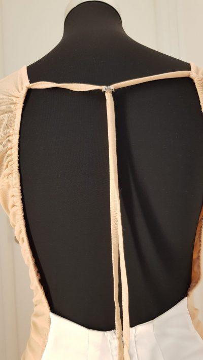 Cocktailkleid, weiß, Callisti Fashion