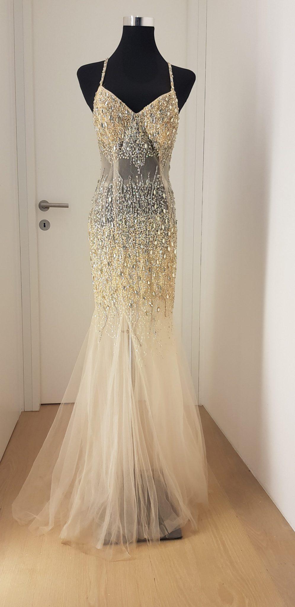 Ballkleid, Terani Couture, weiß - Luxuspuppe-Luxusmode aus zweiter