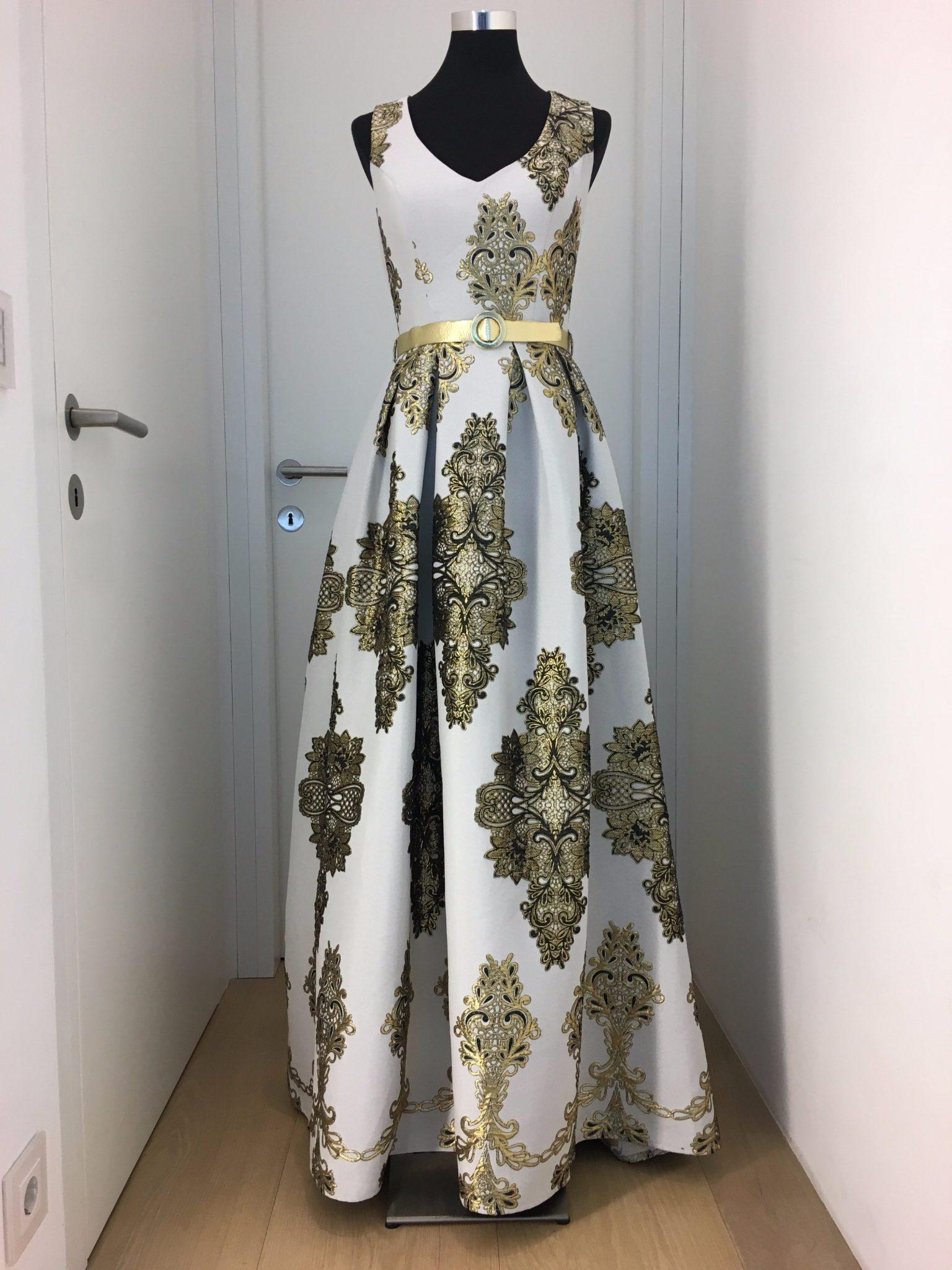 ballkleid, gold, fervente - luxuspuppe-luxusmode aus zweiter