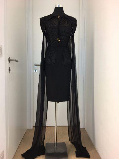Cocktialkleid, schwarz, Callisti Fashion