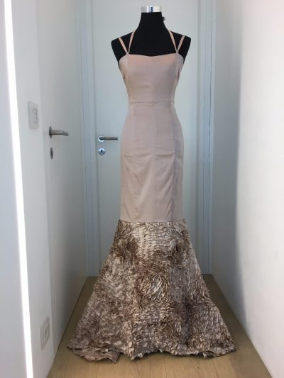 Ballkleid, nude, Callisti Fashion