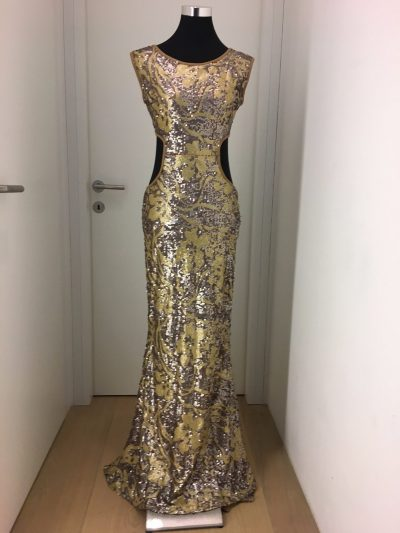 Ballkleid, gold, Callisti Fashion