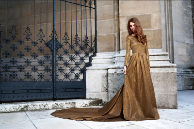 Ballkleid, Elisa Malec, gold