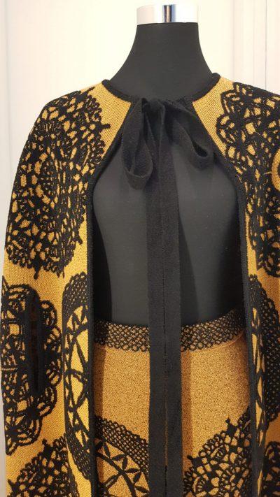 Cape, Kostüm, gelb, schwarz, Missoni
