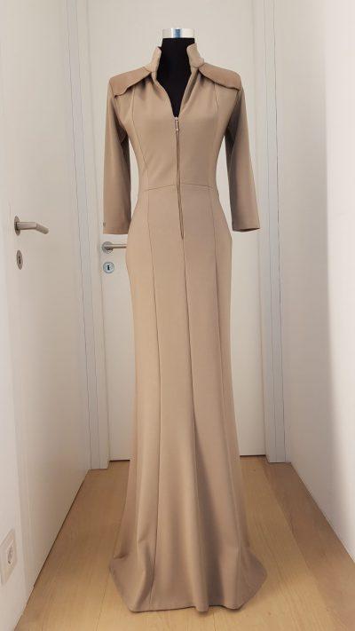 Kleid, nude, lang, Callisti Fashion
