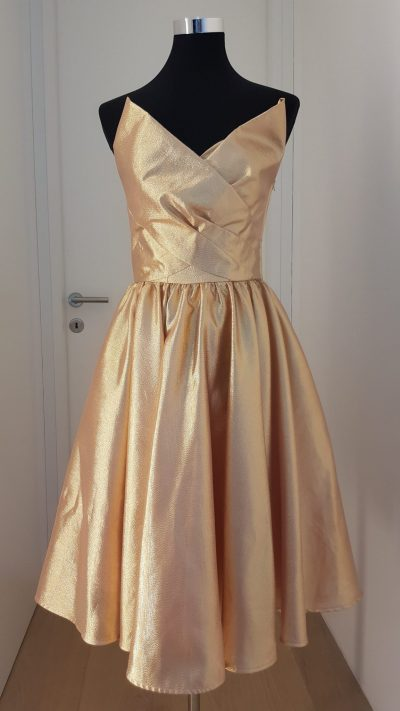 Cocktailkleid, gold, rose, Lena Hoschek