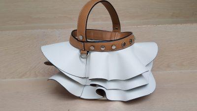 Handtasche, weiß, Volants
