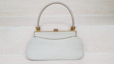 Handtasche, Vintage, weiß
