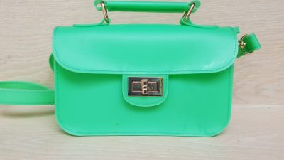 Handtasche, Kunststoff, grün