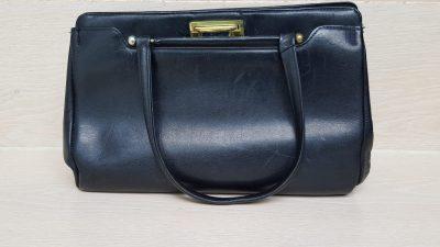 Handtasche, schwarz, Vintage