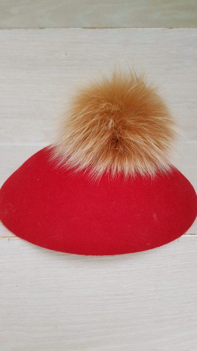 Hut, Fuchsfell, rot