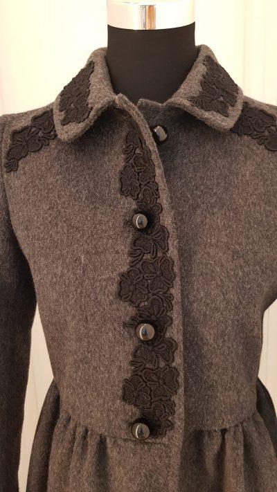 Mantel, Valentino, grau