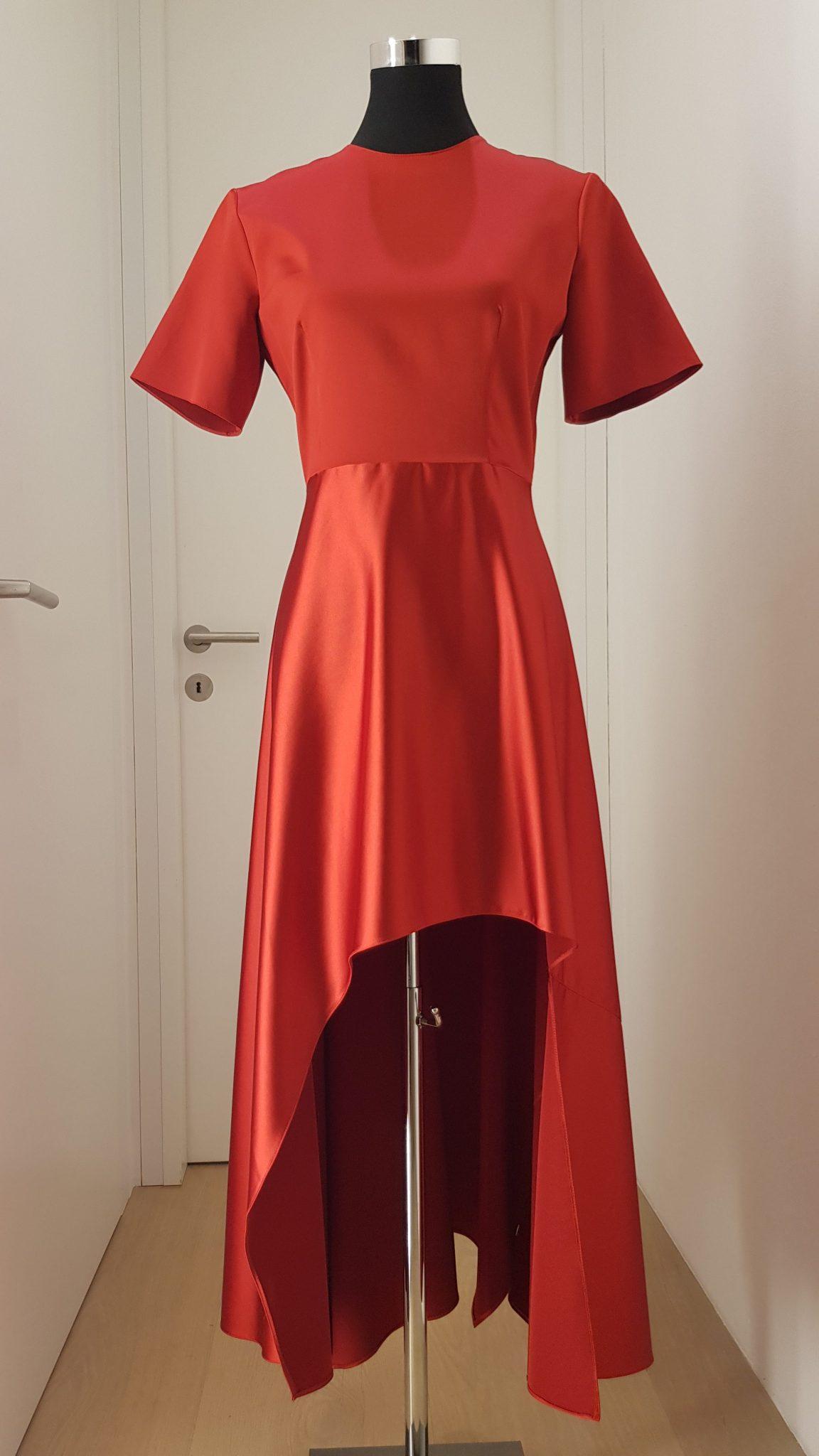 cocktailkleid, rot - luxuspuppe-luxusmode aus zweiter hand