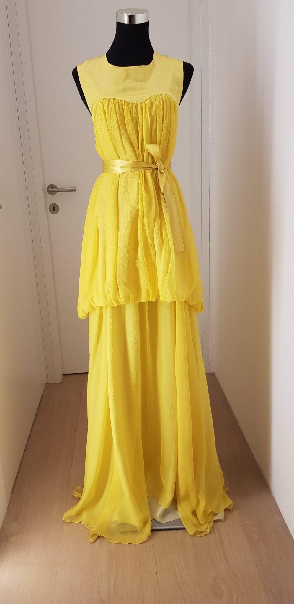 Ballkleid, Marcel Ostertag, gelb - Luxuspuppe-Luxusmode aus