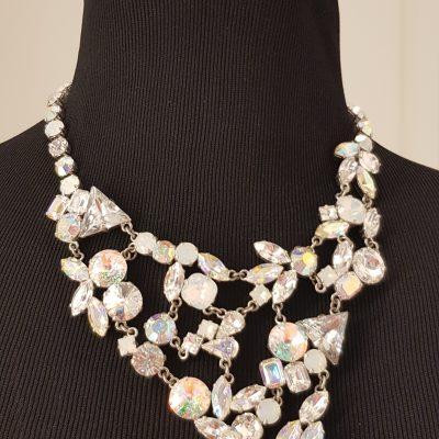 Halskette, silber, blau
