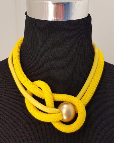 Halskette gelb