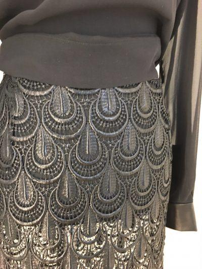 Rock, Bluse, schwarz, Callisti Fashion