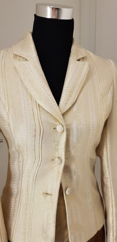 Business Outfit, weiß, gold, Aniko Smart Couture, sale only