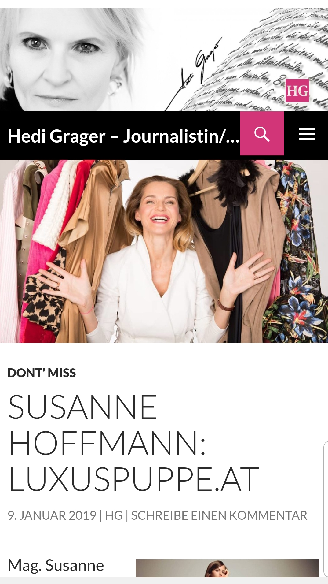 Interview mit Hedi Grager – Journalistin/Bloggerin